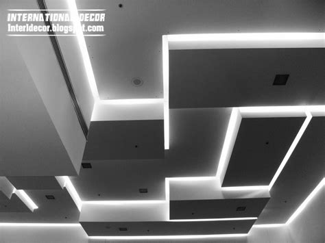Modern Open Space Living Room Design Lighting Ideas Cool Led False Ceiling Pop Designs With