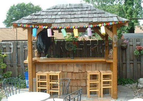 tiki bar backyard tiki bar outdoor bar pinterest