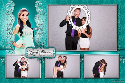 layout design for photo booth double celebration with 2 photo booth layouts