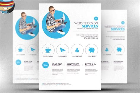 design flyer template minimal web design flyer template flyer templates on