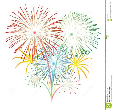 new year firecrackers vector fireworks clipart white background