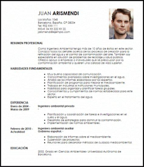 Modelo Curriculum Vitae Gobierno De Chile Modelo Curriculum Vitae Ingeniero Ambiental Livecareer