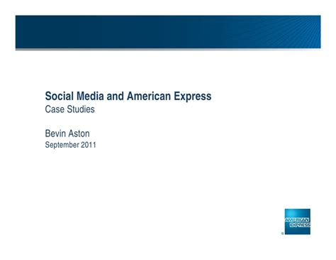 Malveaux Mba American Express by Social Media And American Express Studies