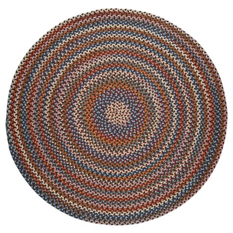 8 ft braided rugs rhody rug walnut 8 ft x 8 ft indoor braided area rug an32r096x096 the home depot