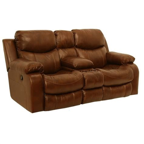 Catnapper Leather Reclining Sofa Catnapper Dallas Leather Power Reclining Loveseat In Tobacco 64959124619304619