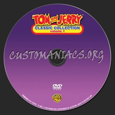 classic collection volume 1 tom and jerry classic collection volume 1 dvd label dvd covers labels by customaniacs id