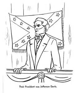 civil war coloring pages usa printables jefferson davis was president of the