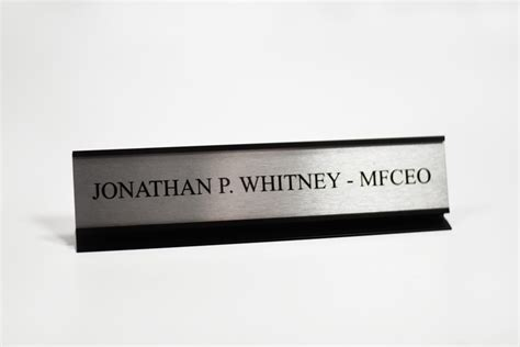 office desk name plates custom metal office signs desk