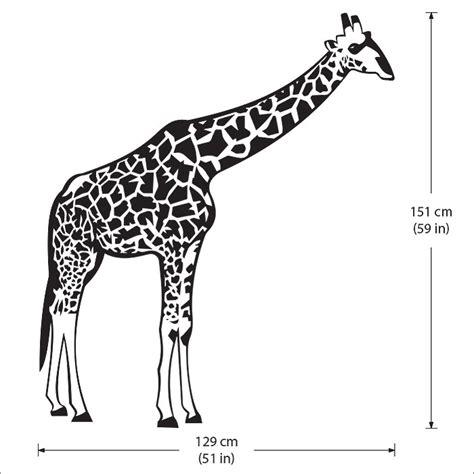 Wandaufkleber Giraffe giraffen wandaufkleber wandtattoo