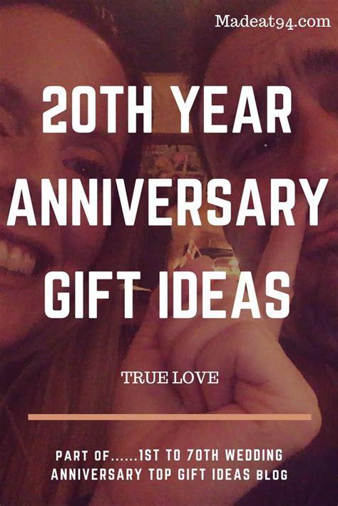 Best 25  20th wedding anniversary gifts ideas on Pinterest