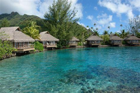 moorea overwater bungalow panoramio photo of polynesia intercontinental