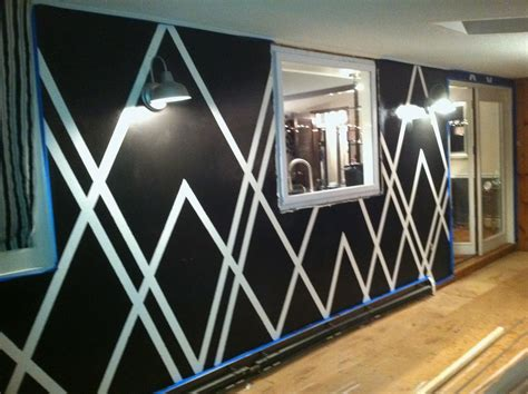 wall paint design ideas with tape decor4poor painters tape design wall