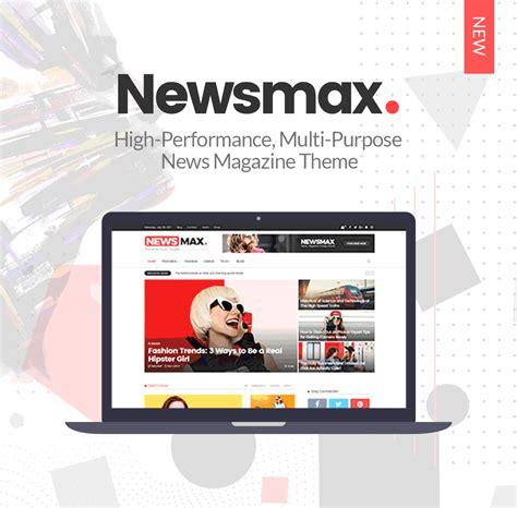 newspaper theme shop newsmax multi purpose news magazine theme themes affair