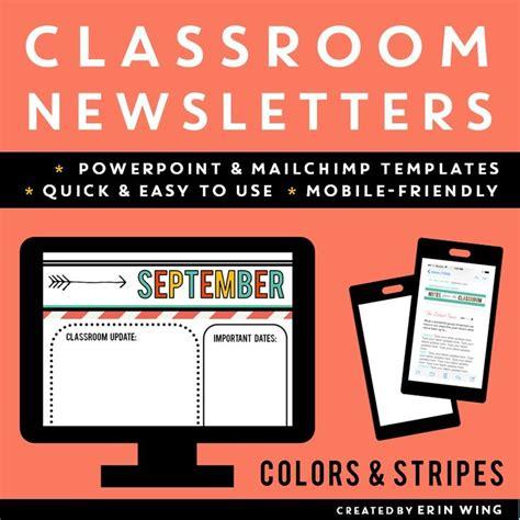 Best 25 Classroom Newsletter Ideas On Pinterest Classroom Newsletter Template Parent Mobile Friendly Newsletter Templates