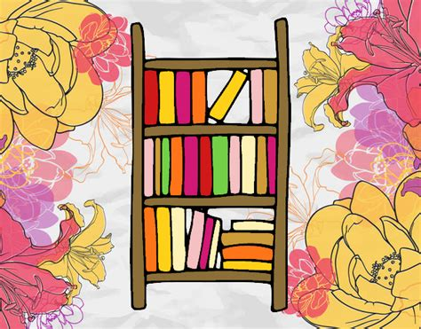scaffale libri disegno scaffale per libri colorato da utente non