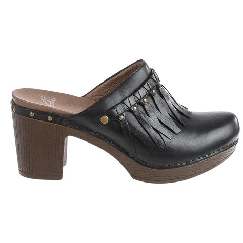 dansko clogs for dansko deni fringed clogs for save 43