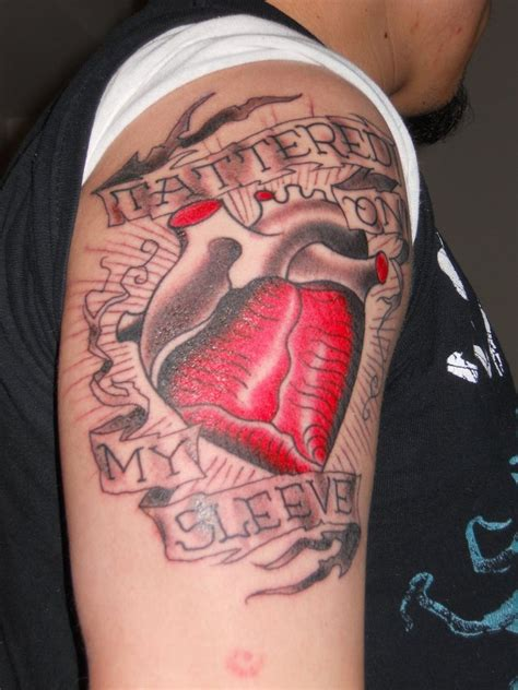heart on my sleeve tattoo tattered on my sleeve by purity in on deviantart