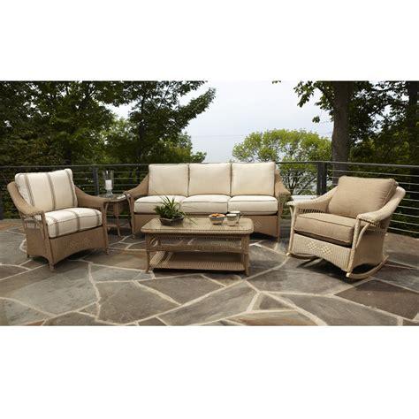 Lloyd Flanders Nantucket Wicker Lounge Rocker 51033 Outdoor Furniture Usa