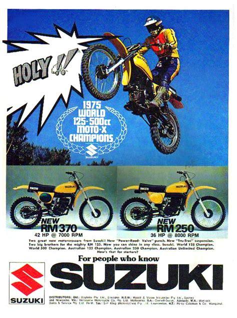 Suzuki Advert Suzuki Rm250 Magazine Ads
