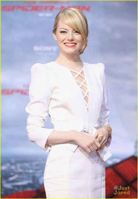 Emma Stone Just Jared | emma stone andrew garfield spider man hits berlin