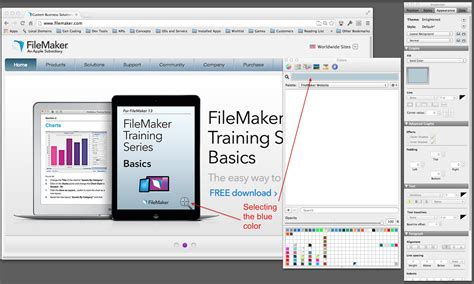 os x color picker mac os x color picker with filemakerpro