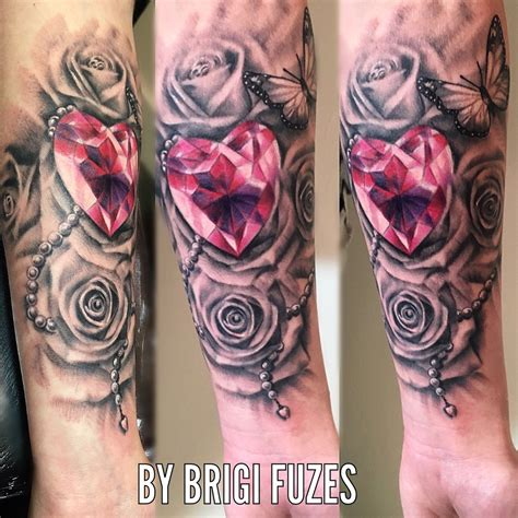diamond heart tattoo on twitter quot tattoo by brigi fuzes