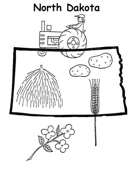north dakota state flag coloring page coloring pages