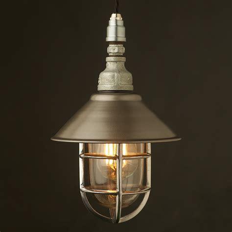 Caged Pendant Lights Plumbing Pipe Caged Shade Pendant