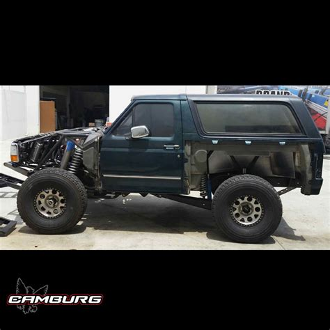 prerunner bronco suspension ford bronco 4wd 92 96 4 link kit camburg engineering