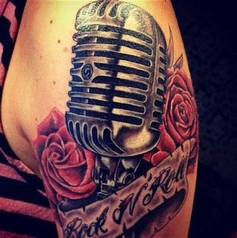 old school microphone tattoo school microphone insperation