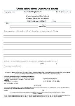 Contractor Proposal Form Microsoft Office Joy Studio Design Gallery Best Design Microsoft Office Bid Templates