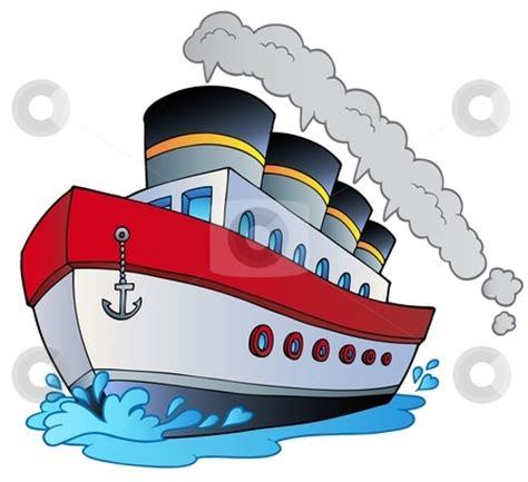 boat browser cookies big cartoon steamship stock vector