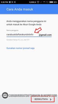 cara membuat email yahoo tanpa nomor telepon cara daftar email baru lewat hp android untuk buat akun google