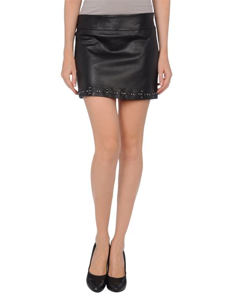 guess leather skirt in black lyst
