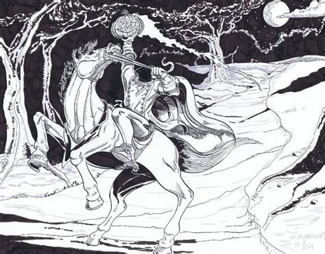 Http Www Theatreofyouth Org Headless Horseman Sleepy Headless Horseman Coloring Pages