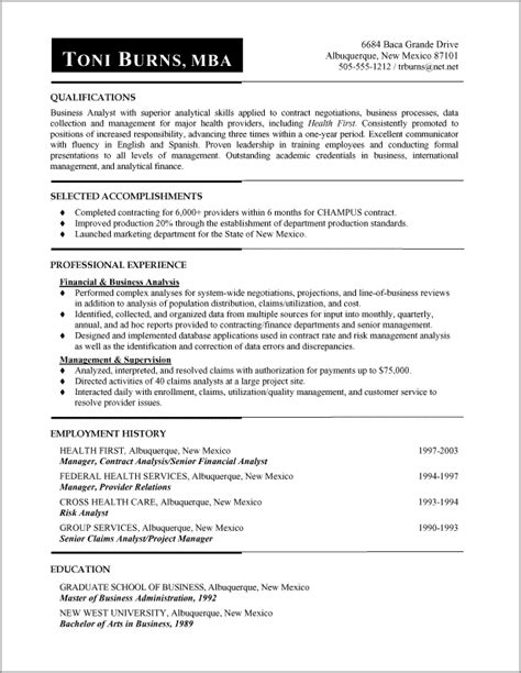 Functional Format Resume Exle by Functional Resume Sles Functional Resumes