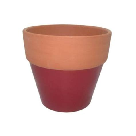 home depot clay pots 8 1 2 in glazed clay flower pot ybh026 the home depot
