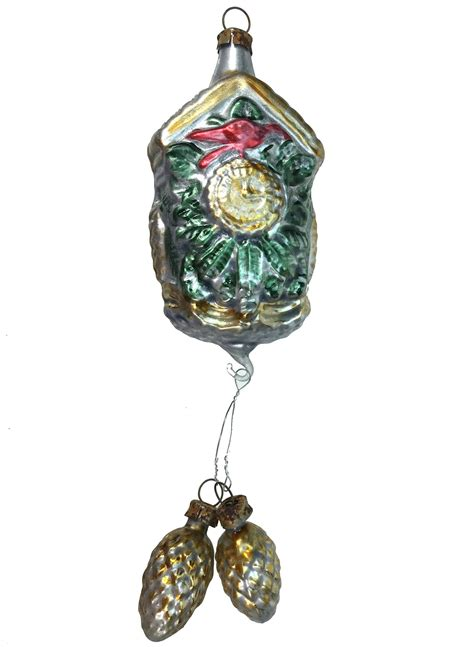 vintage patina german cuckoo clock ornament germany