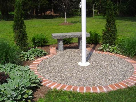 Flagpole Landscaping Ideas Flag Pole Idea If Not Doing Raised Bed Landscaping Pinterest Danishes We And Raised Beds