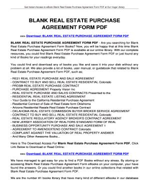blank real estate purchase agreement blank purchase agreement real estate forms and templates