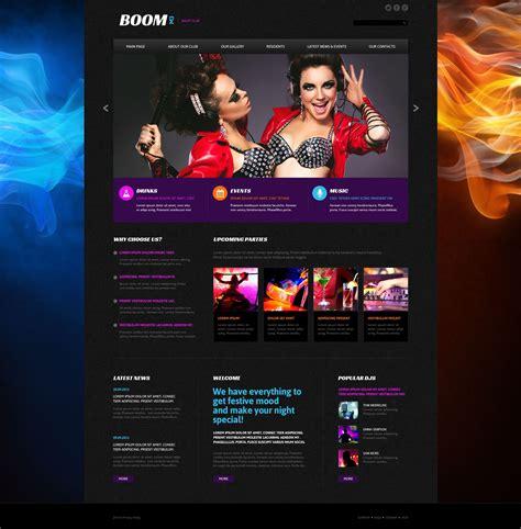 Dj Website Templates Dj Music Bootstrap Template Id 300111860 Musically Dj Premium Moto Cms 3 Dj Website Design Templates