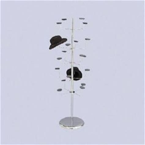 Retail Hat Rack by Hat Millinery Stand Retail Store Floor Display Rack 4 Levels 20 Caps New
