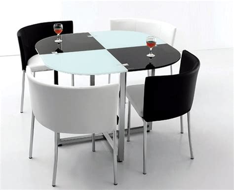 Space Saving Dining Tables Black And White Space Saving Dining Room Table And Chairs Home Interiors
