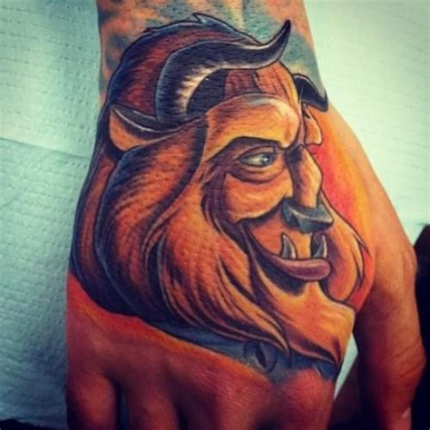 beauty and the beast tattoo designs completely awesome disney tattoos part of your world guff