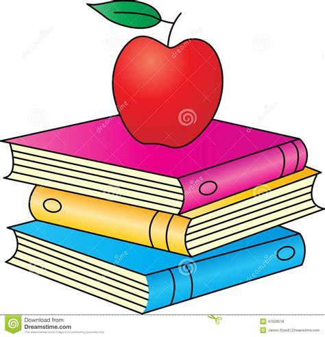 imagenes de rosas sobre libros libros con la manzana ilustraci 243 n del vector imagen