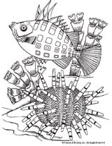 sea urchin coloring page