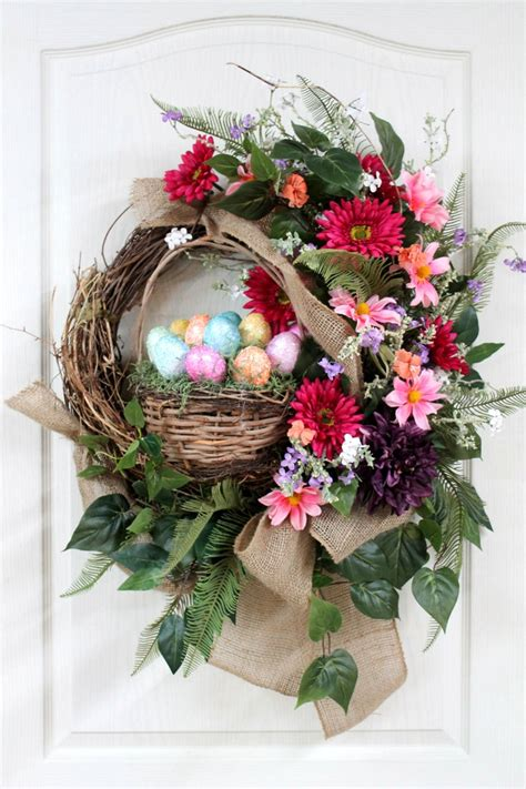 easter wreaths for front door easter country front door wreath wreaths