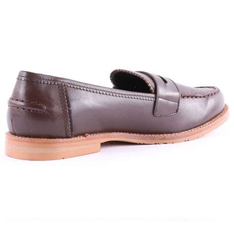 barbour loafer womens casual shoes in brown