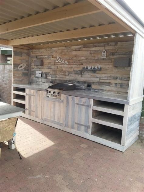 diy backyard kitchen diy shipping pallet kitchen furniture projects pallets