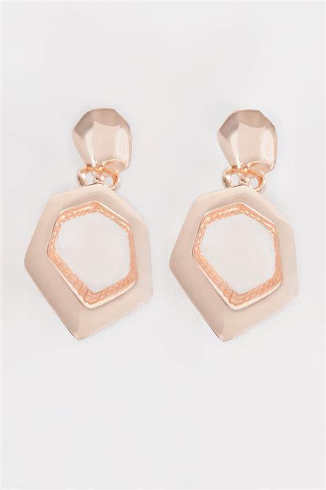 div placement gold geometrische ohhringe